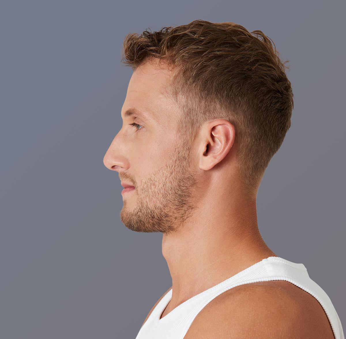 Profil eines Männergesichts